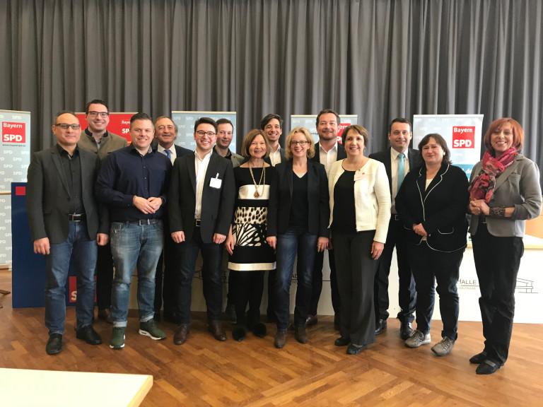 Unsere Kandidatinnen und Kandidaten zum Bayerischen Landtag mit Spitzenkandidatin Natascha Kohnen